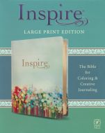 NLT Inspire Bible Large Print Leatherlike-Floral Field