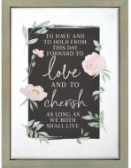 Plaque Framed-To Have And To Hold, RFT0008