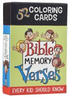 Bible Memory Verses Every Kid Should Know Coloring Cards