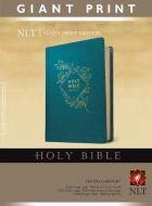 NLT Giant Print Bible Leatherlike-Teal Blue
