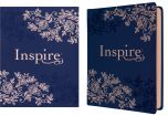 NLT Inspire Bible Journaling LeatherLike-Hardcover, Navy