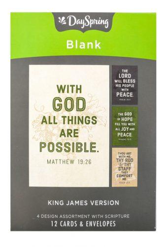Boxed Cards-BLANK, KJV Scripture (20350)