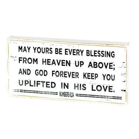 May Yours Be Every Blessing, Tabletop Wood Plaque