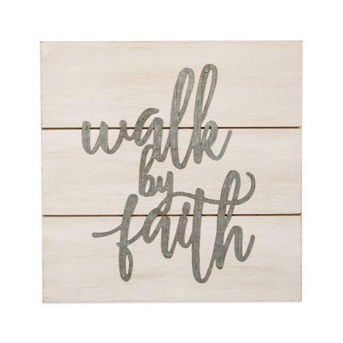 Walk By Faith Pallet Sign