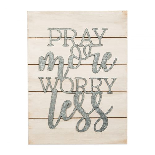 Pray More Worry Less Pallet Sign