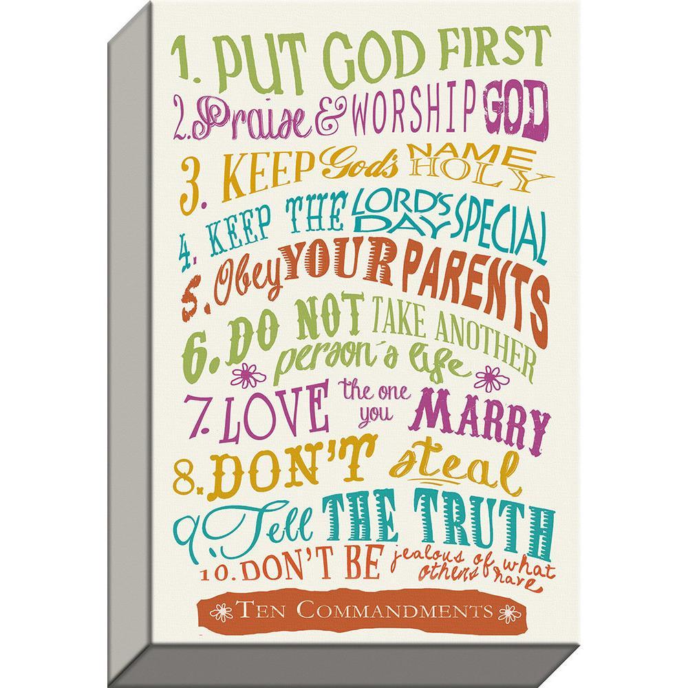 Plaque Canvas-10 Commandments
