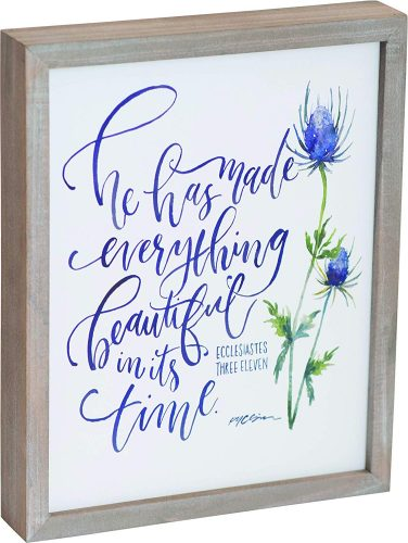 Everything Beautiful Framed Plaque