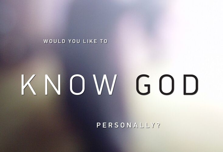 Would You Like To Know God Personally? (Colour Tract) (min. 10)