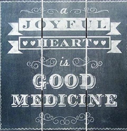 Plaque (Chalk Print) - Joyful Heart (50152)
