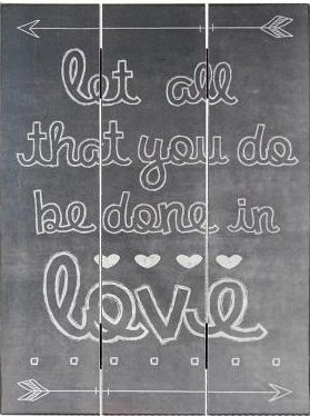 Plaque (Chalk Print) - Let All That You Do