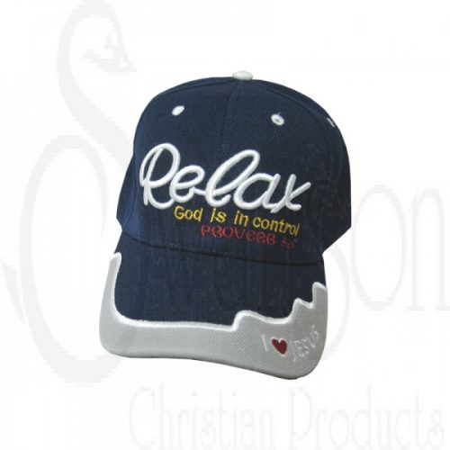 Cap Navy Relax God Is In Control