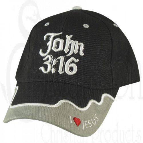 Cap Black John 3:16