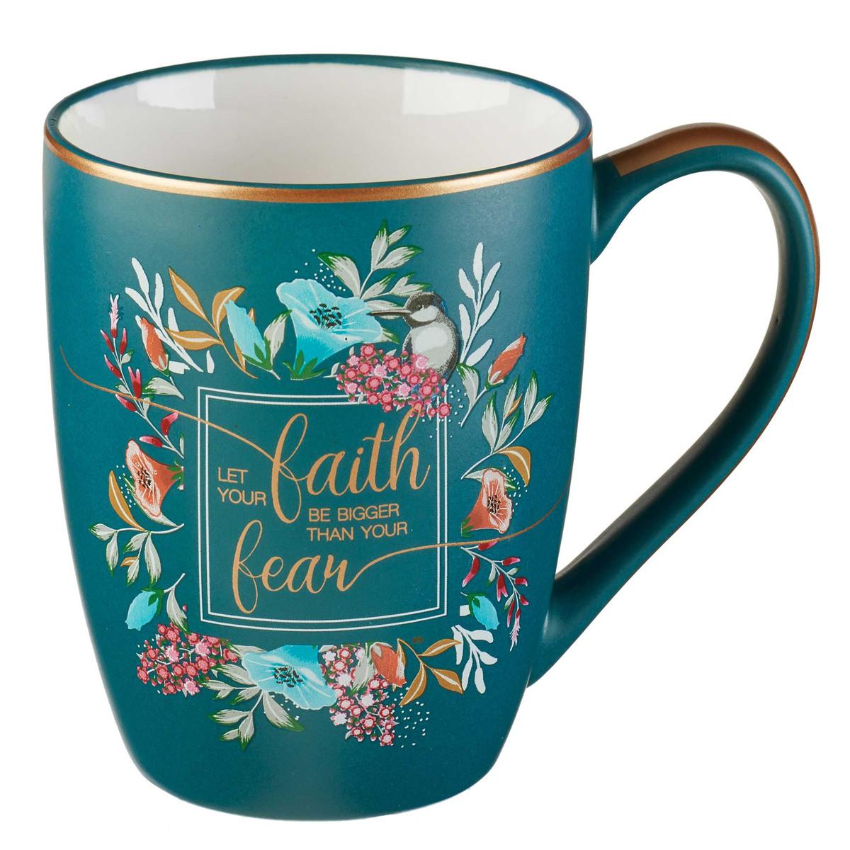 Mug: Ceramic-Let Your Faith Bigger,Green