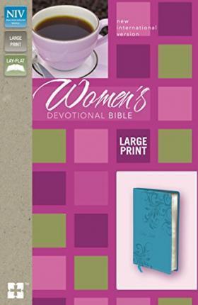 NIV Women's Devotional Large Print Leatherlike Teal