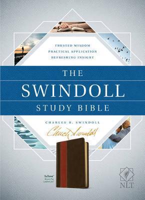 NLT Swindoll Study Bible - Brown/Tan