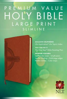 NLT Premium Value Slimline Bible Large Print ( Sienna Cross )