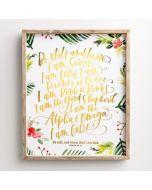 Plaque Framed Wall:Be Still & Know