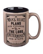 Mug:Ceramic-Man's Heart Plans  Brown