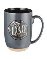Mug:Ceramic-My Dad  My Hero  Grey
