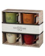 Mug: Stoneware SET of 4, Faith, Hope, Trust, Still, MUGS26
