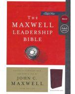 NKJV Maxwell Leadership Bonded-Burgundy, 3rd Edition
