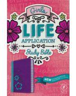 NLT Girls Life Application Study Bible - TuTone  (Purple/Teal)