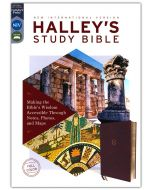 NIV, Halley's Study Bible, Leathersoft, Burgundy, Red Letter