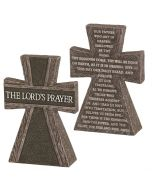TableTop Cross Resin-The Lord's Prayer