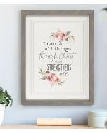 Plaque Framed-I Can Do All Things, RFW0005