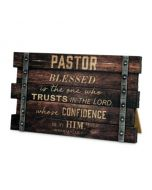 Plaque-Desktop Wood  Pastor   Jer 17:7