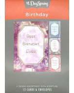Boxed Cards-Birthday Marble & Geodes J0385