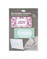 Moveable Stickers-Joy/Courage, Set/2 (36987)