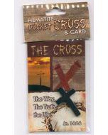 Hematite Pocket Cross. 87038