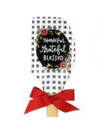 Spatula (Wood and Silicone): Thankful, Grateful, Blessed, 79855