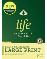 NLT Life Application Study Bible, Third Edition, Large Print, Indexed