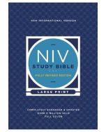 NIV Study Bible  Fully Revised Ed.  Large Print  Hardcover  Red Letter  Comfort Print