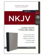 NKJV Thinline Bible Large Print, Gray and Blue, Hardcover