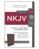 NKJV Compact Large Print, Reference, Leathersoft-Brown