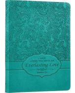 Journal: Faux Leather-Everlasting Love, Turquoise