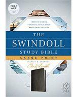 NLT Swindoll Study Bible.Large Print. Leatherlike-Black