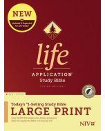 NIV Life Application Study Bible, Third Edition, Large Print