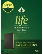 NLT LASB Large Print Genuine-Black  Red Ltr