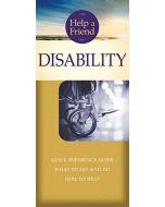 Help a Friend: Disability-Pamphlet