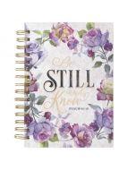 Journal: Wirebound-Be Still & Know, Floral