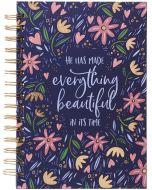 Journal: Wirebound-Everything Beautiful, Large, Ecclesiastes 3:11, JLW111