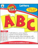 Quick Stick-Red Letters (CD-119010)