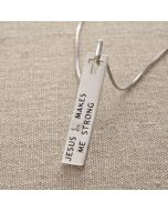 Pendant - DS0357 (Jesus Makes Me Strong)