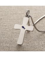 Cross Pendant - DS0359 (Enamelled Fish Cross)