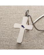 Cross Pendant - DS0359 (Enamelled Fish Cross)