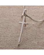 Cross Pendant - DS0368 (White Crystal Cross)
